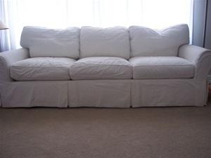 Crate U0026 Barrelu0027s Classic Sofa.