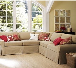Pottery Barn Basic Sectional Slipcovers