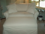 Slipcover for Crate & Barrel Potomac Chair 1/2 Sleeper