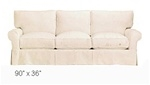 Slipcover for Crate & Barrel Potomac Queen Sleeper Sofa
