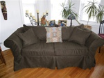 "Pottery Barn Newport  93"" Sofa  Slipcover"