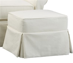 Slipcover for Crate &  Barrel Bayside Ottoman