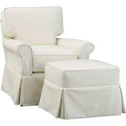 Crate & Barrel Bayside Swivel Chair Slipcover