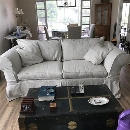 "Restoration Hardware Outlet >> Mitchell Gold Kathleen 85"" Sofa Slipcover"